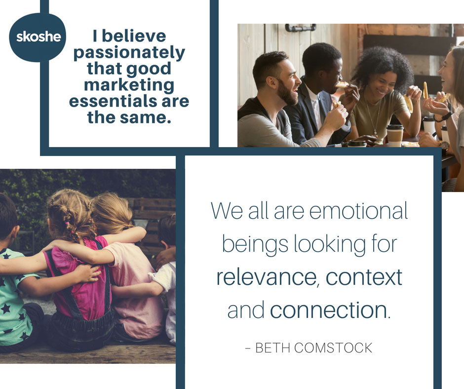 Good marketing essentials are the same. - Beth Comstock